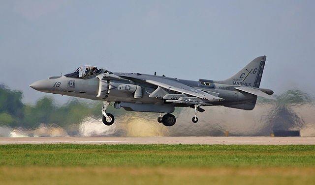 USMC AV-8B Harrier in hover